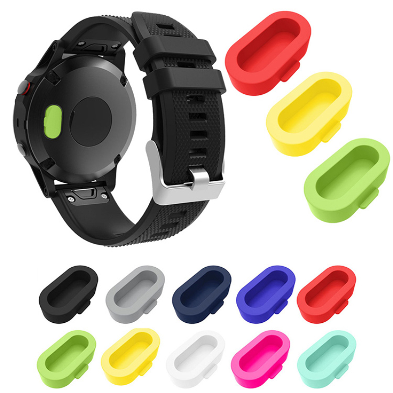 Silicone Dust Proof Cap For Garmin Fenix 5/5X/5S Plus Wristband Port Protector Resistant And Anti-dust Plugs For Forerunner 935