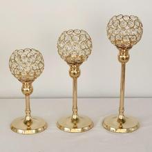 1 candelabro hueco de Metal, decoración para celebración de boda o Festival, accesorio de vela, candelabros de escritorio, decoración del hogar