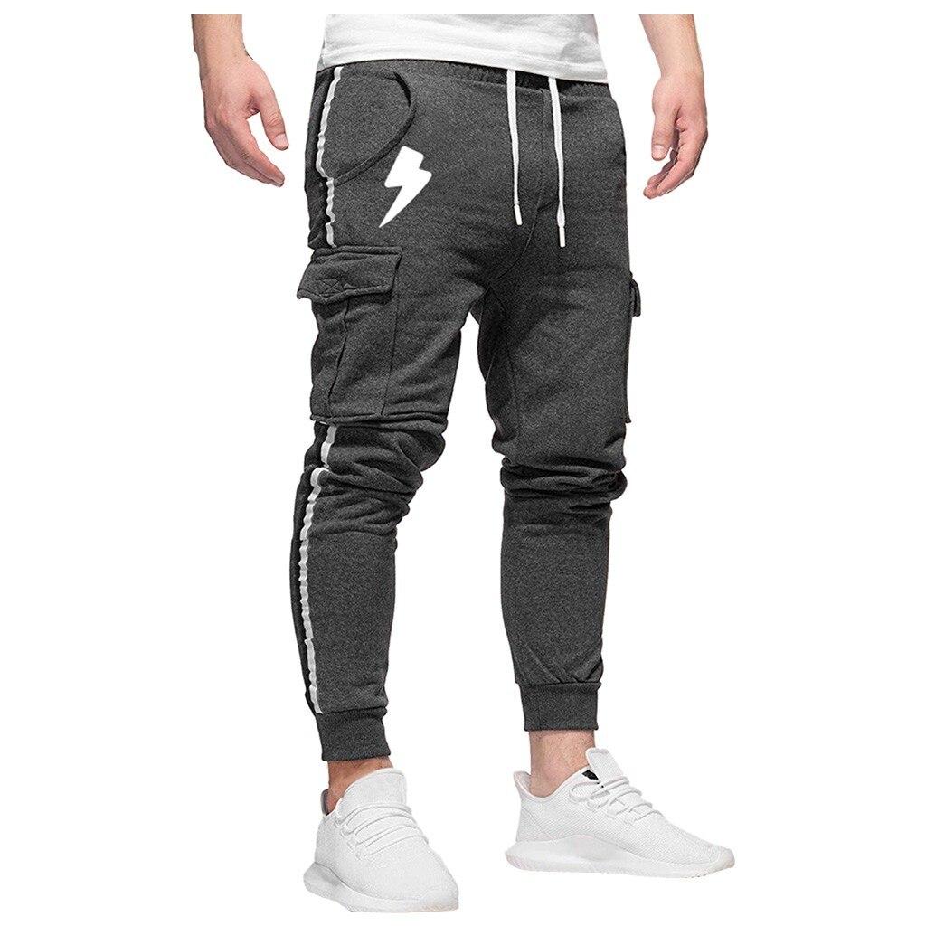Cargo Pants Men Hip Hop Blanco Trucker Casual Joggers and Pants Street Wear Pants ropa de hombre 2020 de verano #30