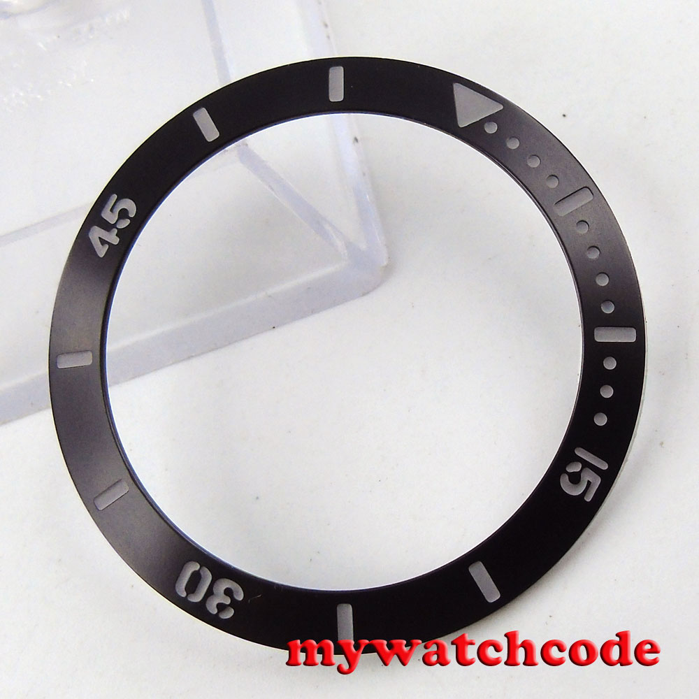 39.8mm Black Groove At Number And Mark Alloy Bezel Insert For 40mm GMT Sub Mens Watch