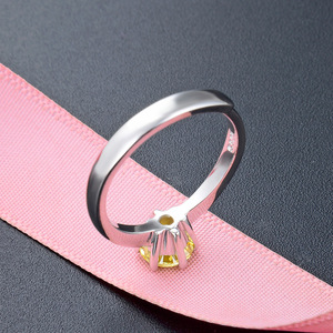 Image 4 - JRSIAL 925 סטרלינג תכשיטי כסף טבעת קוריאנית אופנה קטן טרי אישה טבעת קלאסי סיטרין Resizable טבעת