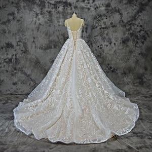 Image 3 - Royeememo Luxurious V neckline lace ball gown wedding dress 2020 bride dress