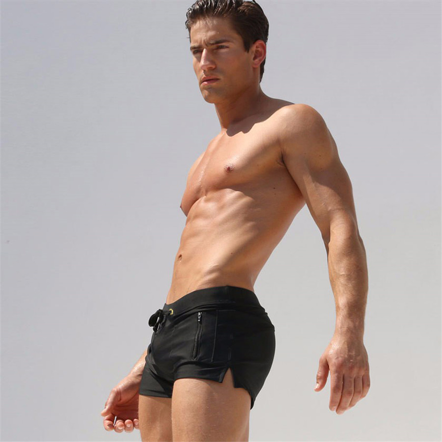 Can Improve Logo Pattern Men AussieBum Vertical Pocket Design Quick-Dry Beach Shorts
