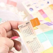 2шт 2021 год календарь наклейки указатель закладка планировщик пуля журнал аксессуары декоративные наклейки этикетка календарь канцелярские товары