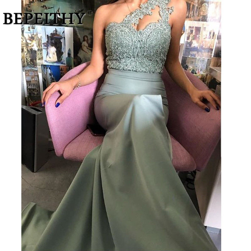 BEPEITHY 2020 Long Evening Dress Lace Boidce Sexy Mermaid Prom Dresses Vestido De Festa Elegant Party Dresses