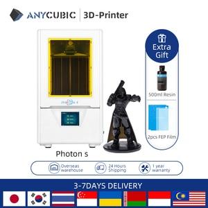 Image 2 - طابعة ANYCUBIC Photon S ثلاثية الأبعاد SLA طابعة ثلاثية الأبعاد مزدوجة Z axis 2K تعمل باللمس طابعة UV الراتنج impressora ثلاثية الأبعاد imprimante ثلاثية الأبعاد drucker
