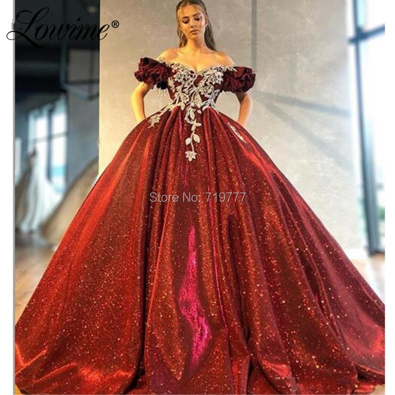 Dubai Off Shoulder   Evening     Dresses   2020 Applique Pearls Party Gowns For Middle East Women Arabic Ball Gown Prom   Dresses   Vestidos