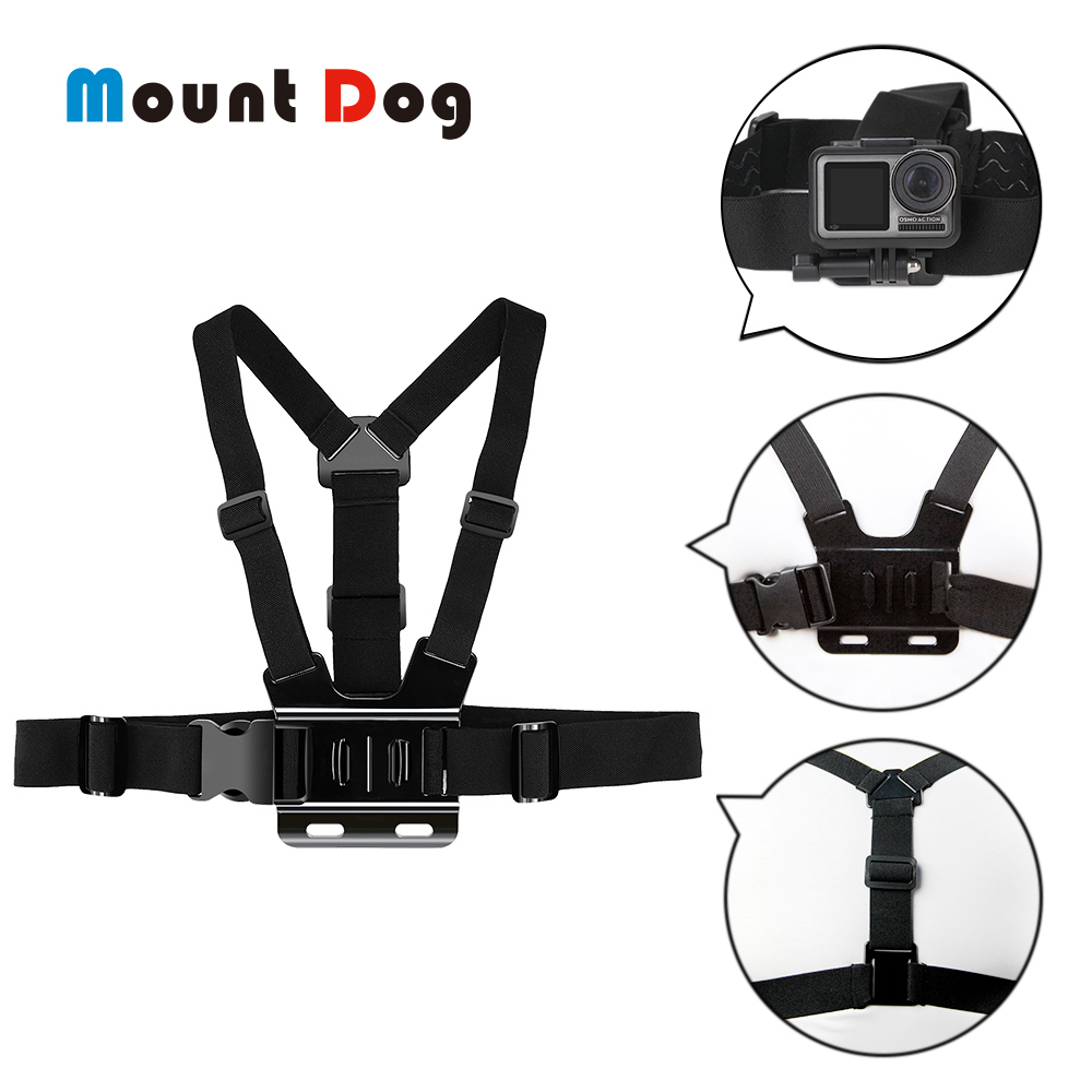 Go pro Accessories Belt Harness Chest Strap Body Mount For GoPro Hero 7 6 5 4 3 Xiaomi YI SJ4000 OSMO Action Camera Accessories