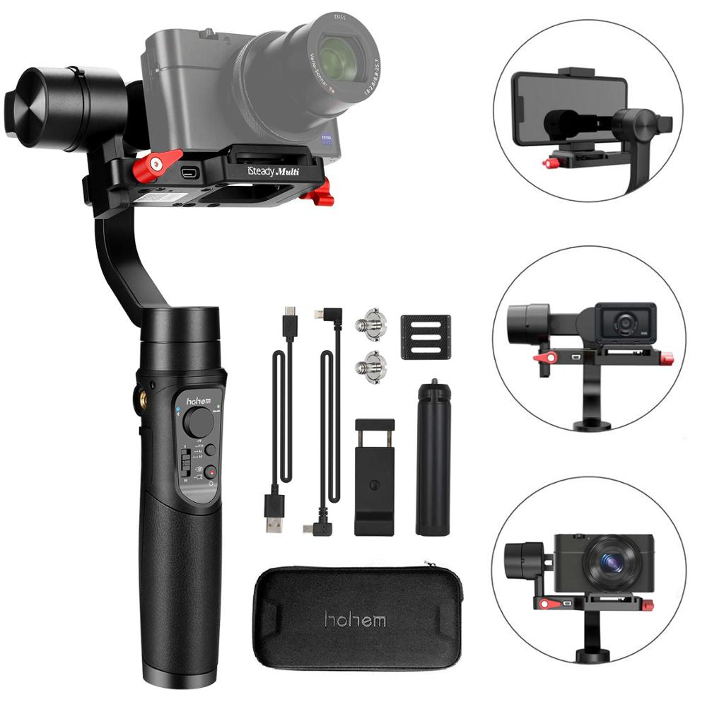 Hohem iSteady Multi 3-Axis Handheld Gimbal Stabilizer for Sony RX100 Series Digital Camera GoPro Action Camera Smartphone image