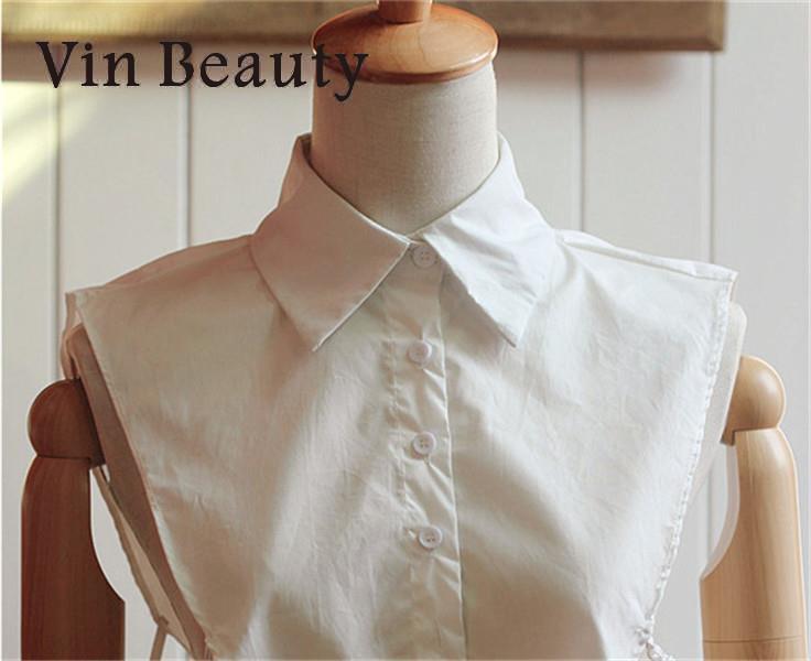 Women Detachable Lapel False Shirt Fake Collar Shirt False Blouse Lapel Choker Femme Neckwear Removable Faux Cols Korean