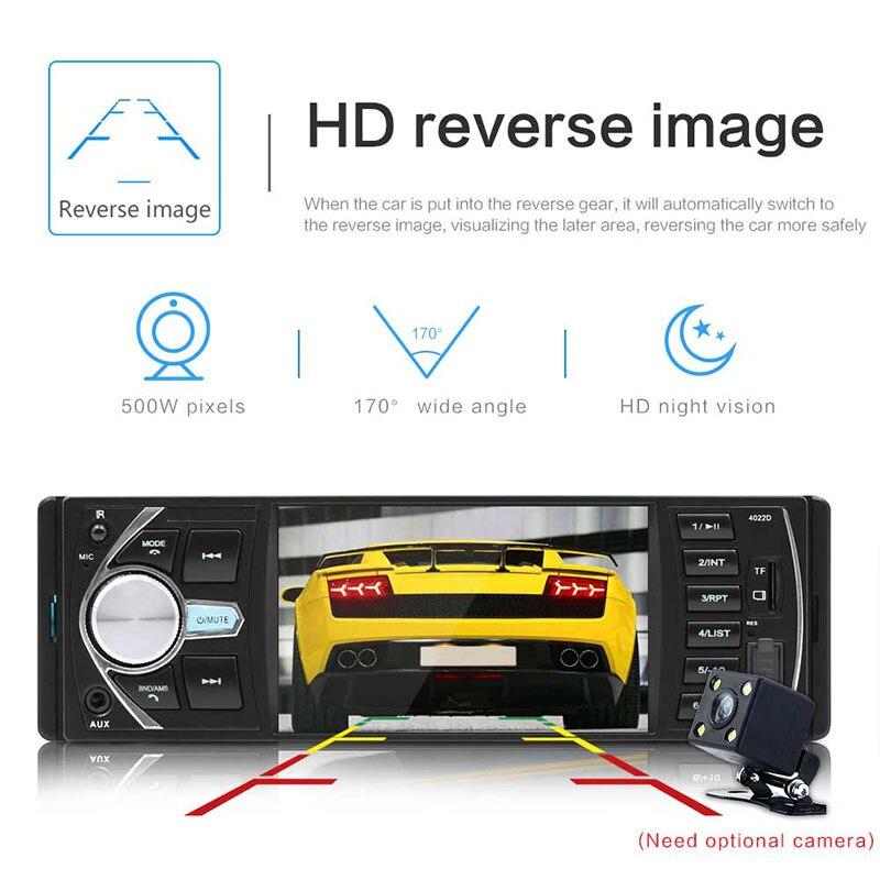 Vehemo 4.1 pouces Auto MP5 lecteur voiture Bluetooth MP5 MP3 volant télécommande vue arrière automobile FM Radio