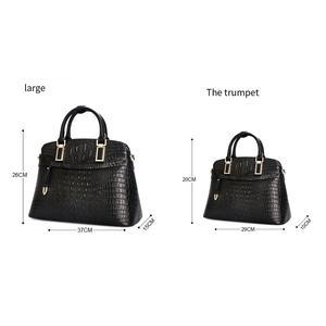 Image 5 - Bolso pequeño de piel de cocodrilo para mujer 2019 Qiwang bolso de mano de lujo de diseñador para mujer 100% bolsos de hombro de piel auténtica para mujer