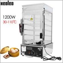 XEOLEO электрическая Пароварка для еды, коммерческая Паровая машина для булочек, шкаф для подогревания продуктов из нержавеющей стали, 1200 Вт Паровая машина для еды, 110 дегре