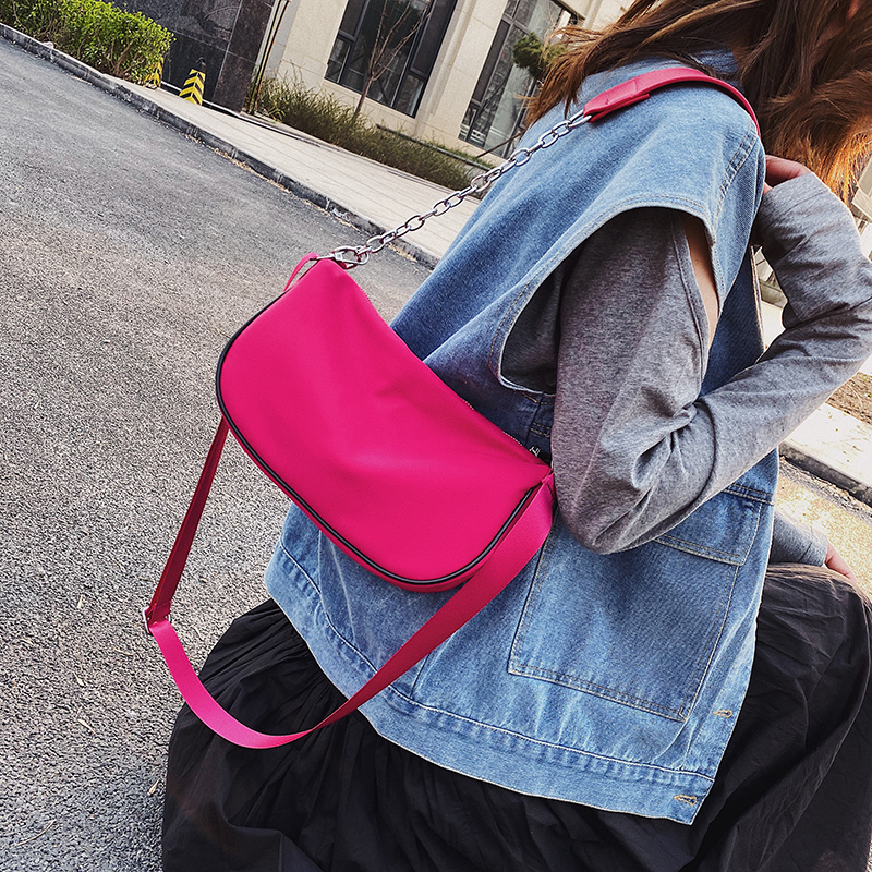 Nylon Black Crossbody Bags For Women 2020 Summer Small Messenger Shoulder Bag Female Cool Cross Body Bag Handbags