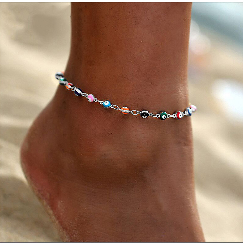 Foreign Trade New Summer Fashion Beach Ornament Metal Eyes Drop Tassel Anklet