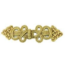 6set Gold Barock Frosch Verschluss Schnur Stickerei Verschluss Chinesischen Knoten Taste Retro Applique Für Kleidung DIY Zubehör AC1507