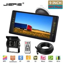 JIEPIE Backup Camera 9 MP5 Big Screen Mirror Monitor Kit System for Trucks Trailers IP68K Waterproof Reversing camera Monitor