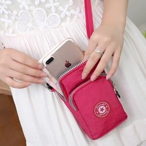 Image 3 - mobile phone bag 6 inch womens messenger bag zipper print bag fashion shoulder bag