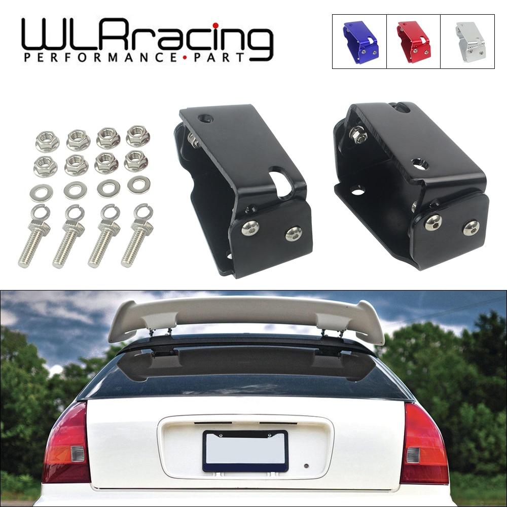 Type R Spoiler Adjustable Tilt Riser Lift Brackets fits 96-00 Honda civic 3DR EK