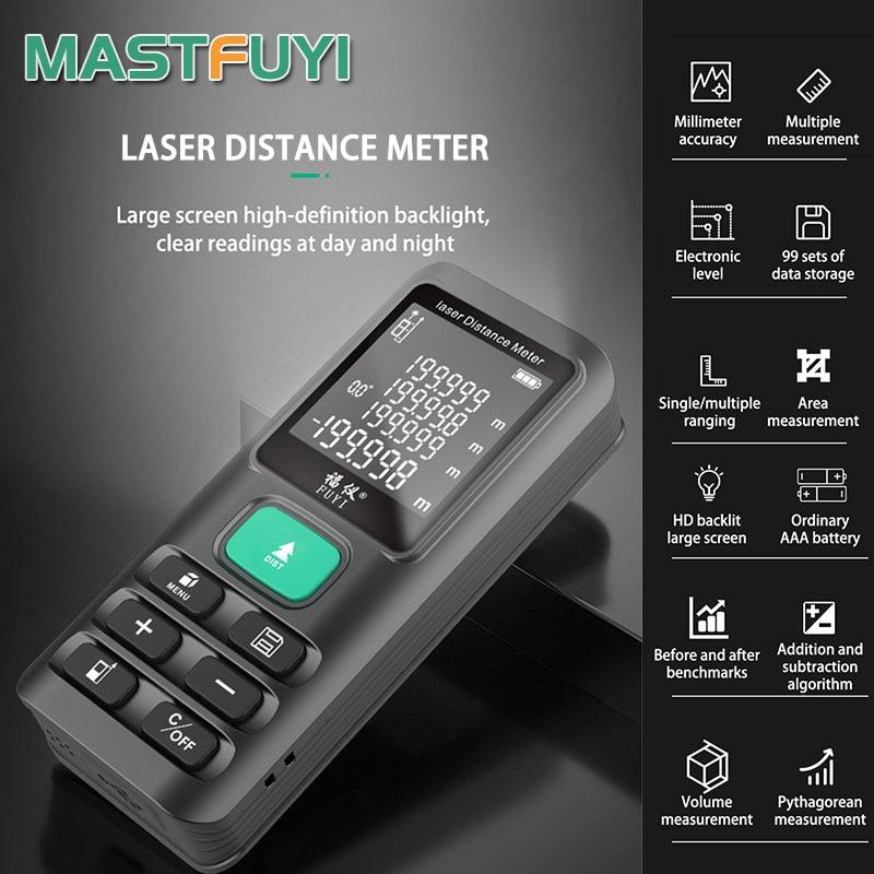 Лазерный дальномер 70 м 120 м дальность измерения лазерный дальномер цифровой угловой дальномер лазерная рулетка измерительный инструмент
