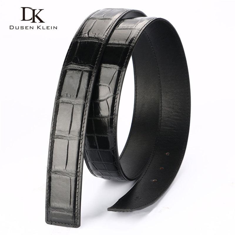 Véritable bracelet en cuir de crocodile pour ceinture Dusen Klein business décontracté en cuir véritable ceinture pour hommes DK R401 - 4