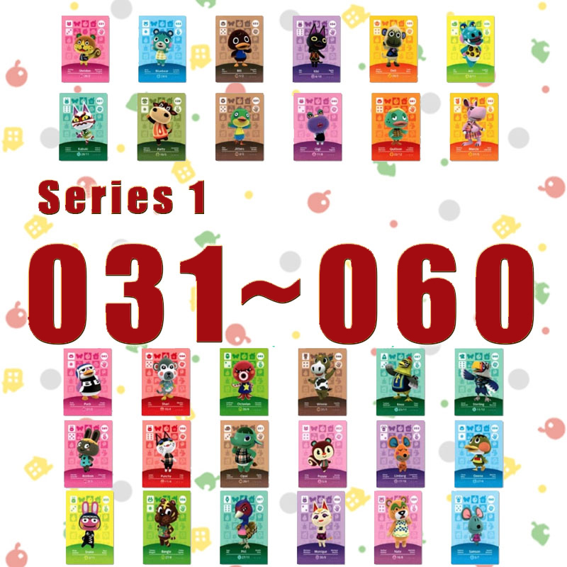 Animal Crossing Amiibo New Horizons Amiibo Card Set Work For NS Switch Games Series 1 (031 To 060)