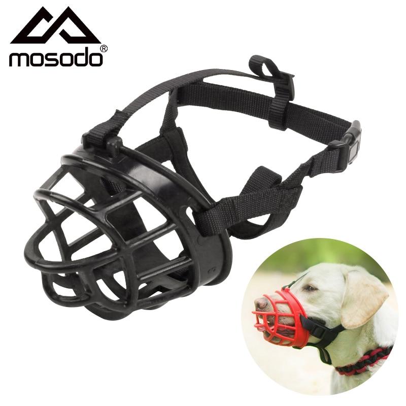 Mosodo Dog Muzzle Breathable Basket Muzzles Anti Bark Bite Adjustable Head Collar Strap Pet Mouth Cover Training Halter Harness