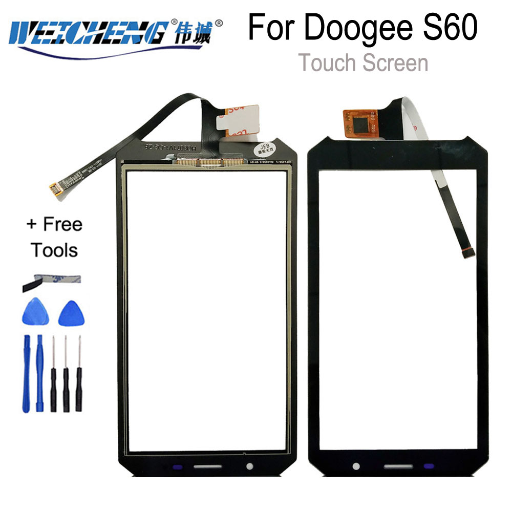 WEICHENG Original Touch Screen For Doogee S60 Touch Panel Glass Replacement For Doogee S60 Lite Touch Panel
