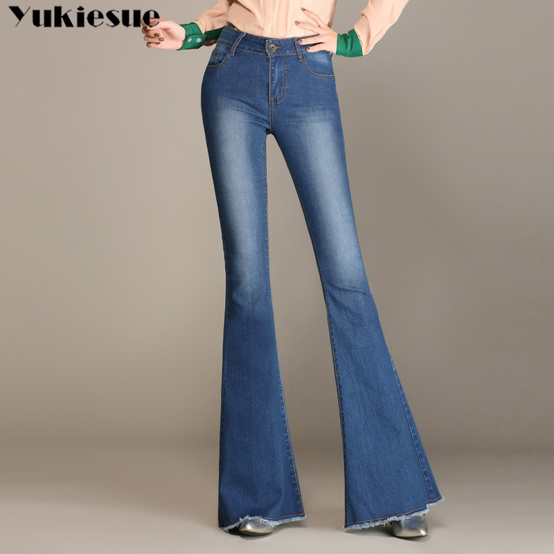 High Waist push up skinny slim mom   Jeans   Women Autumn Elastic Plus size   jean   femme Denim Pocket flare Pant skinny   jeans   woman