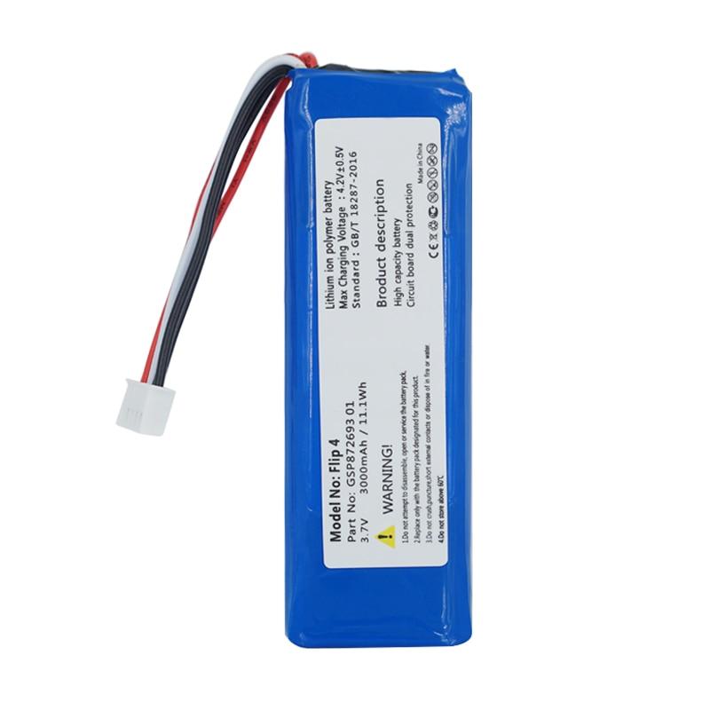 GSP872693 01 3.7v 3000mah batterie pour JBL Flip 4/Flip 4 batteries édition spéciale