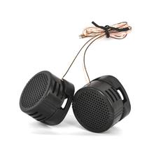 MINI głośnik wysokotonowy samochodowy sprzęt Audio jedwabiu Film dla modyfikacja samochodu 500W o wysokiej częstotliwości głośnik Audio samochodowy sprzęt Audio modyfikacji 2 sztuk tanie tanio kebidumei 97db SKU006895 Universal 12 v Plastic Tweetery 0 081kg Black SPEAKER TWEETER FOR CAR