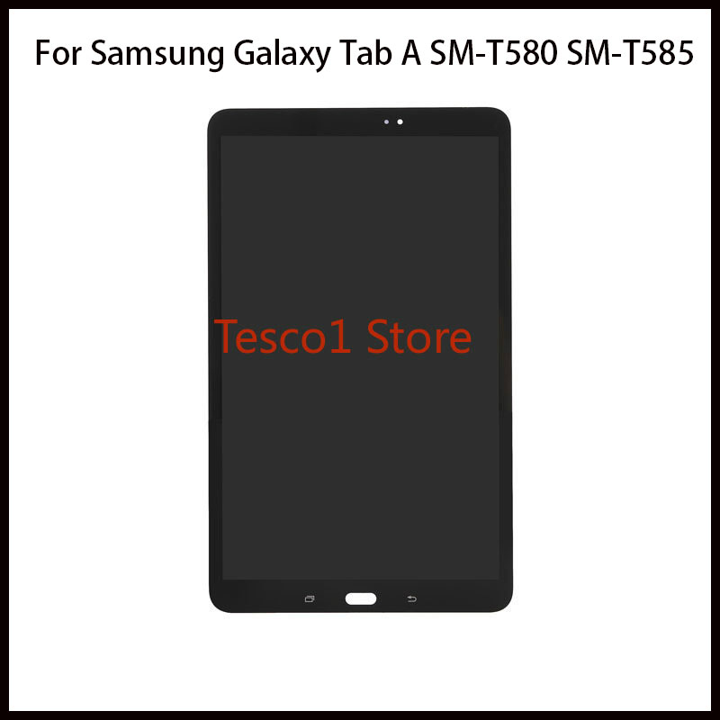 For Samsung Galaxy Tab A SM T580 SM T585 LCD Display Touch Screen Digitizer Assembly Frame