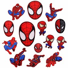 1Pcs Spider-Man Marvels Embroidery Patch Heat Transfers Iron On Sew Patches for DIY Clothes Decorative Appliques Cartoon pattern