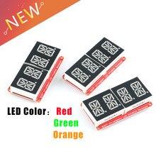 Module de Tube numérique, écran LED 0.54 pouces, 4 bits, 0.54 pouces, HT16K33, I2C, IIC, affichage rouge/vert émeraude/Orange, pour Arduino