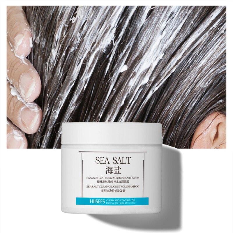 Champú contra la caspa, Control de la sal marina, aceite para aliviar la picazón, antiácaros, reducción de caspa, champú para el cuidado del cabello