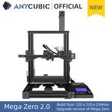 Anycúbico mega zero 2.0 impressoras 3d diy 220*220*250cm desktop extrusora de impressão 3d quadro de metal impressora 3d