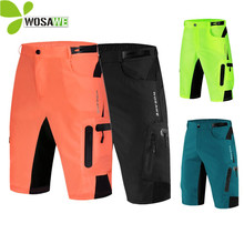 WOSAWE Men MTB Cycling Shorts Gel Padded Cycling Underwear Pro Mountain Bicycle Loose Outdoor Downhill Bike Shorts M-3XL цена 2017
