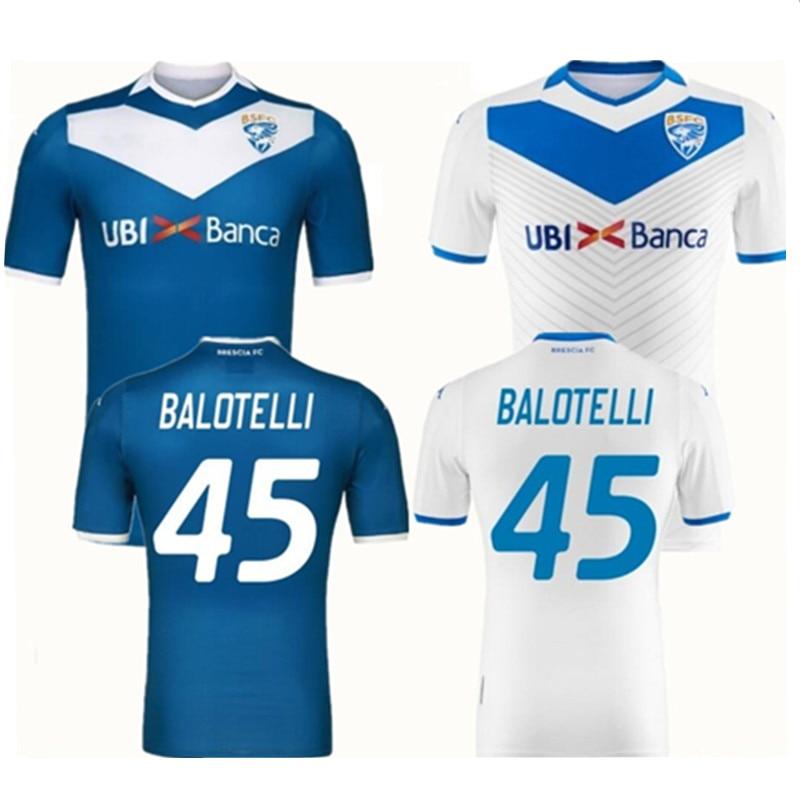 2019 2020 Brescia FC Balotelli Home Away Camiseta Jerseys Customize Name Number Italy Brescia Club 19 20 Man Tees T-shirt