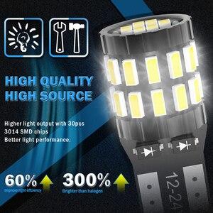 Image 5 - Katur 10Pcs T10 LED Canbus W5W LED Bulb Auto Lamp 3014 30SMD Car Interior Light 194 168 Light Bulb White Red Yellow No Error 12V