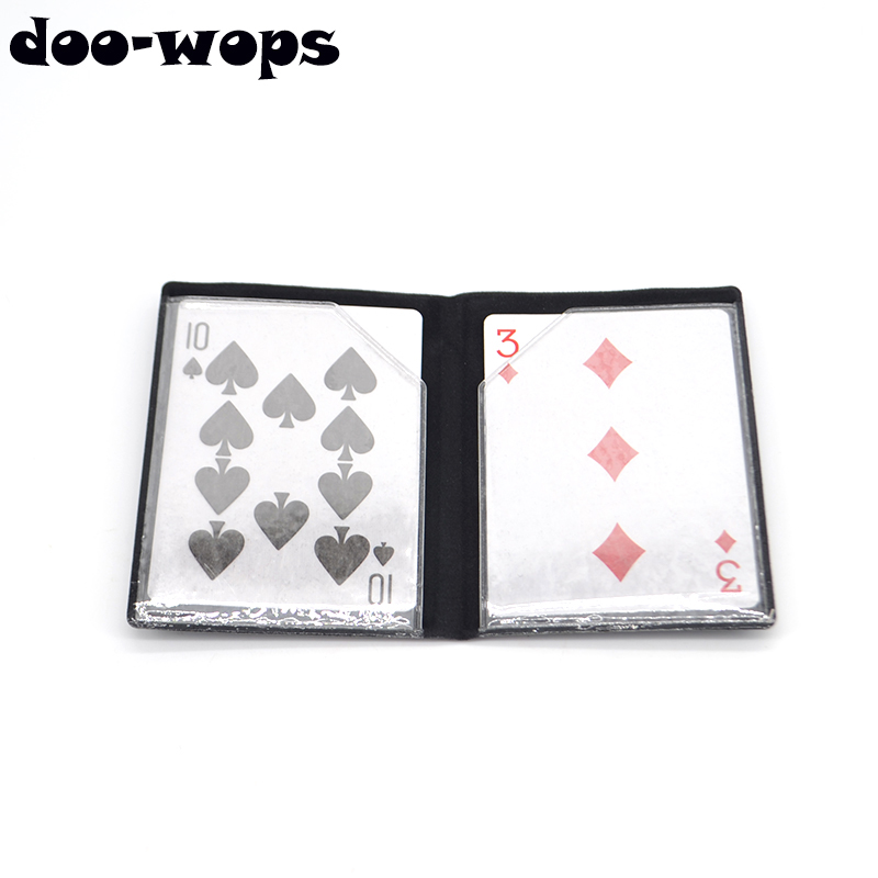 Optical Wallet Card Appearing Magic Tricks Melting With Magnet Card Magia Close Up Street Illusion Gimmick Prop Mentalism Comedy