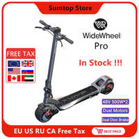 2020 Mercane WideWheel Pro 48V 500W/1000W Kickscooter Smart Electric Scooter Wide Wheel Dual Motor Disc Brake Skate Hoverboard