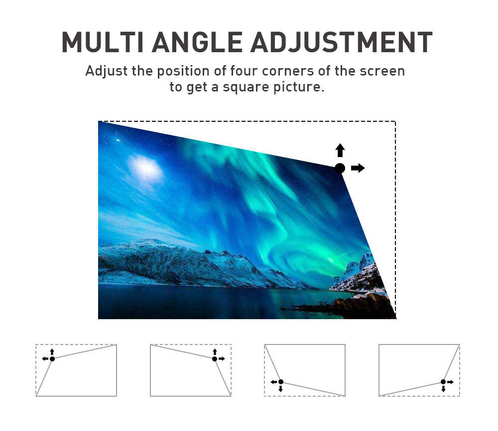 Vivicine P11 Android 9,0 soporte 4K Mini proyector, 3D HD portátil Micro WIFI Bluetooth DLP proyector LED móvil con batería