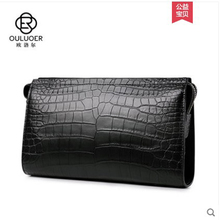 ouluoer Thailand crocodile leather men's hand bag large capacity password lock leather handbag business fashion clutch men bag