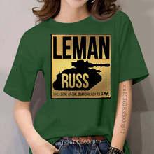 T-Shirt unisexe pour femme, VINTAGE, en forme de LEMAN RUSS 2