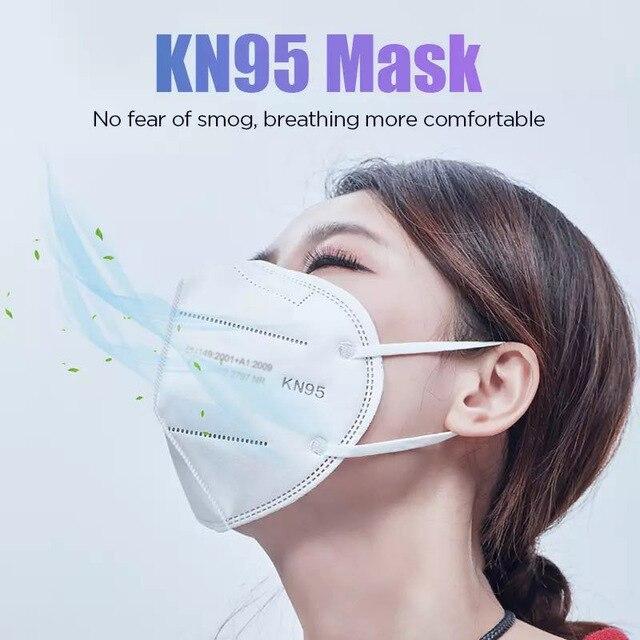 100pcs ffp2 face mask KN95 facial masks filter maske Mouth mask FFP2mask KN95mask anti dust mask mascaras mascarilla ventilation 4