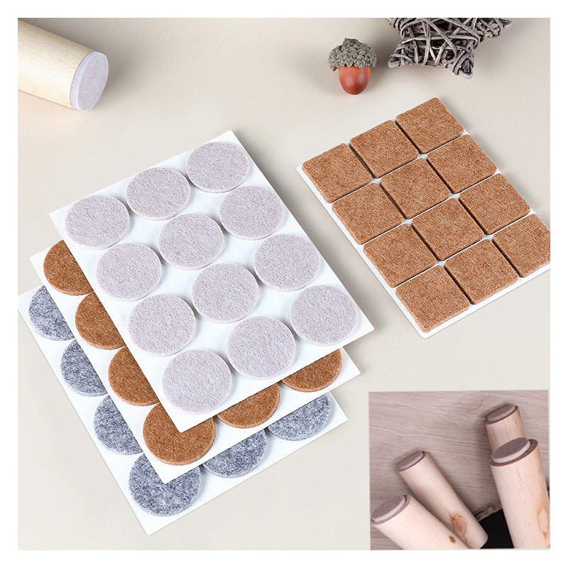 Big Size 30X30 Square And Circle Thicker 5mm Color Furniture Chair Table Leg Self Adhesive Felt Wood Floor Protector Pads