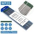 WP20 чистый Вольфрам (зеленый) электроды TIG сварочные электроды 1,0/1,6/2,0/2,4/3,0/3,2 золото Tig электроды для сварки Tig