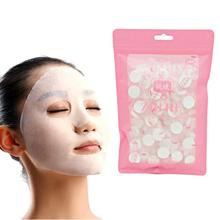 лучшая цена 100PCS Compressed Face Mask Paper Disposable Facial Masks Natural Skin Care Wrapped Masks DIY Women Makeup Face Beauty Tool