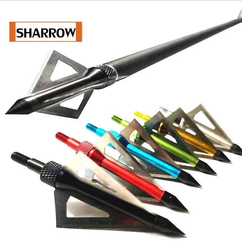 12pcs Hunting Arrowheads Broadheads 3 Blade Tips Archery Points Storage Box