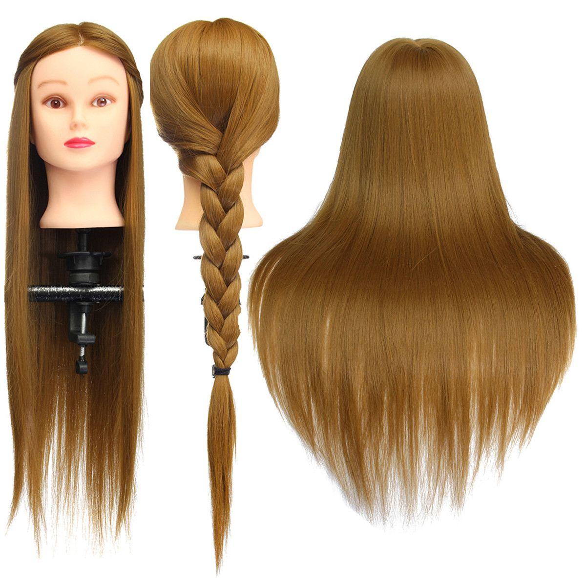 Голова-манекен для тренировок с блондиновым и 30% натуральным волосами, 26 дюймов